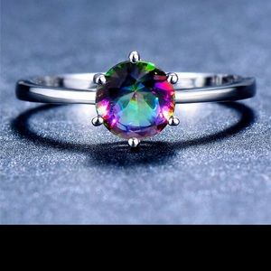 Rainbow 🌈 Ring Size 7 (925 Stamped)